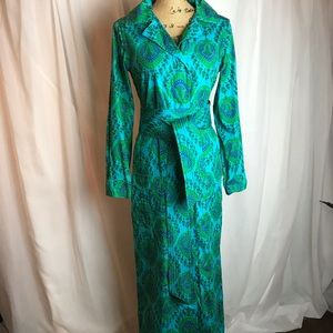 Vintage Design Thai Hand Tailored Maxi Dress
